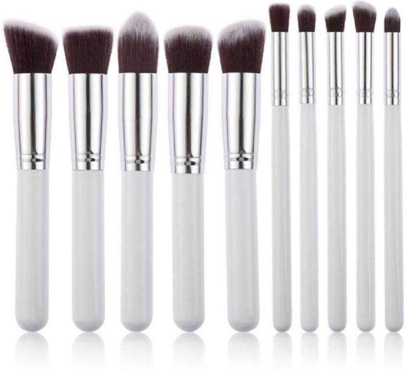 Forever 21 Professional Series Kabuki Makeup Brush Set White 10 - Kabuki-makeup