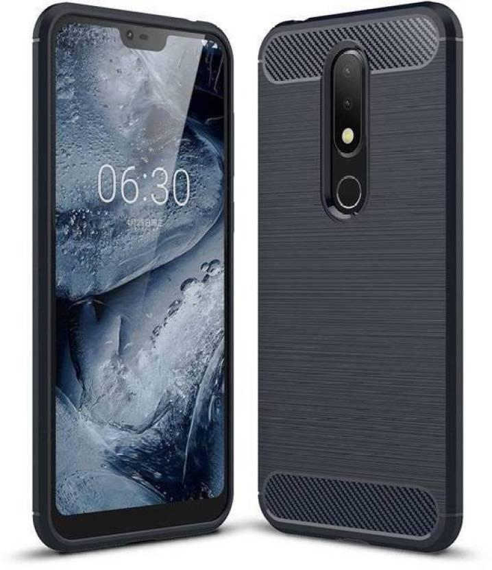 best service 9f9f2 d62fe Prime Retail Back Cover for Nokia 6.1 Plus Carbon Fiber Case