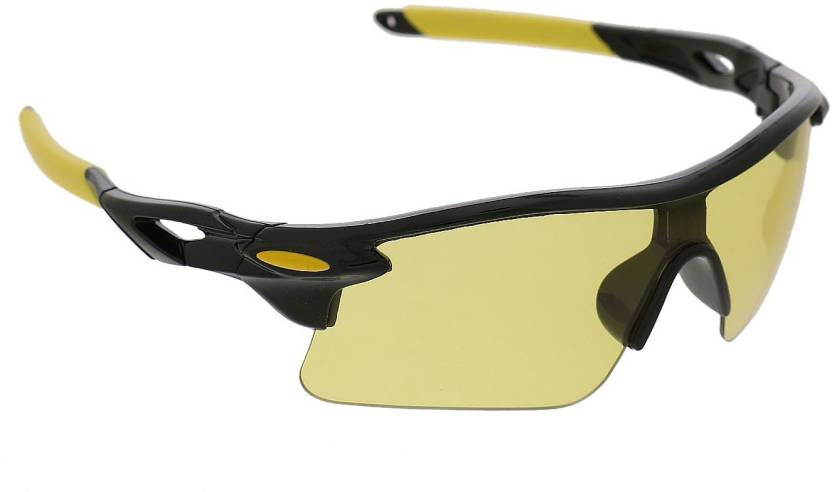 2225ab21489 Vast Night Vision 7 Layer Anti Glare Wrap Around All Sports And Motorcycle  Goggles (Black)
