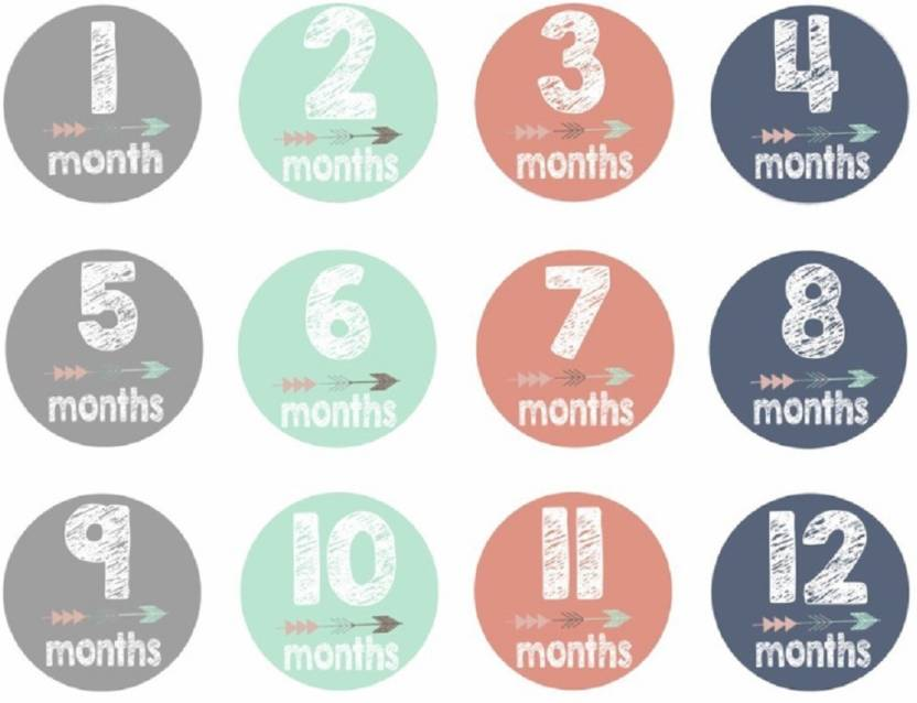 Smart Baby Monthly Milestone Stickers 24 Pack Keepsakes & Baby Announcements Other Baby Keepsakes