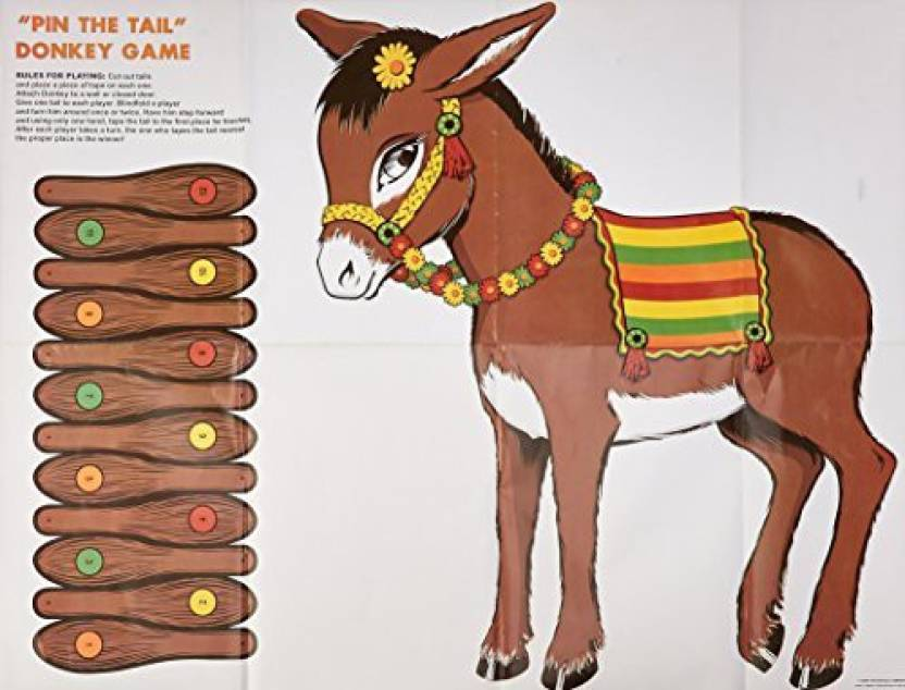 Beistle Donkey Game (mask & 12 tails included) Party Accessory (1