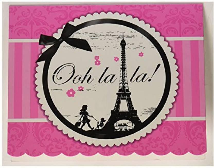 Birthday Express Paris Eiffel Tower Damask Party Supplies