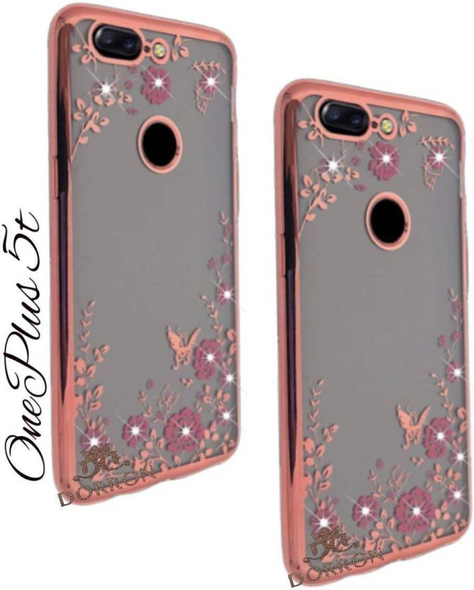 outlet store f7efd 34627 DORRON Back Cover for OnePlus 5T / 1+5T Stylish Printed Auora Flower ...