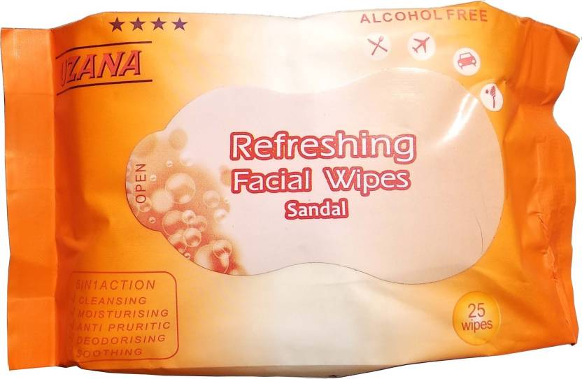 UZANA FACIAL/FACE TISSUES -Wet-MAKEUP REMOVER-Soft -Tissue Paper Face Cleanser/Cleaning Wipes For Women & Girls-Sandal (Pack of 25)