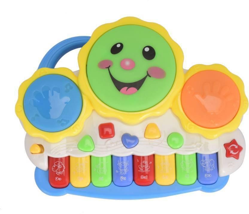 Toy Arena Electronic Drum With 8 Key Organ Keyboard Musical