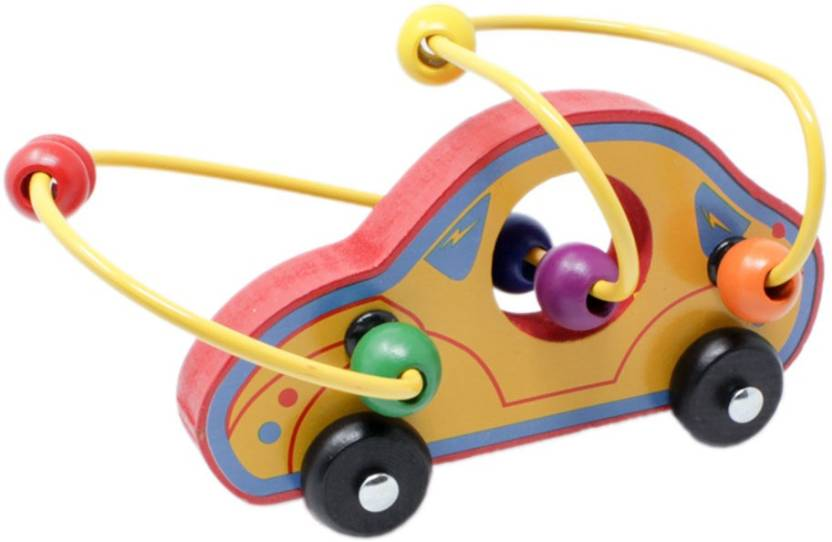 Tootpado Wooden Bead Maze Educational Toy Car Car 1tng248