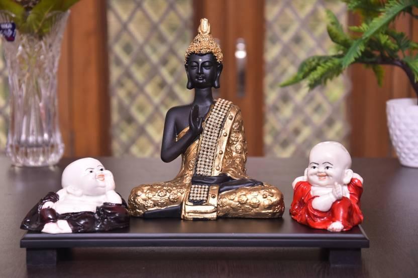 Mariner S Creation Divine Meditating Buddha Statue With Two Child