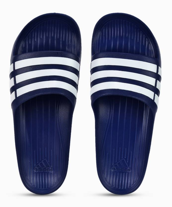 b2674b8e0 ADIDAS DURAMO SLIDE Slides - Buy POBLUE WHITE POBLUE Color ADIDAS DURAMO  SLIDE Slides Online at Best Price - Shop Online for Footwears in India