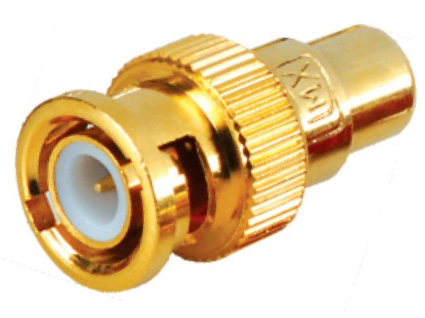 MX BNC Male to RCA Female connector Gold Plated for Audio