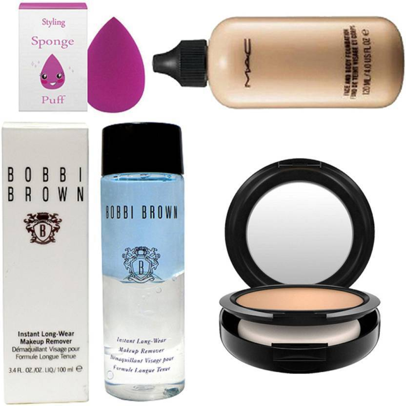 Styling Spong Puff With Bobbi Brown Makeup Remover Instant Longwear