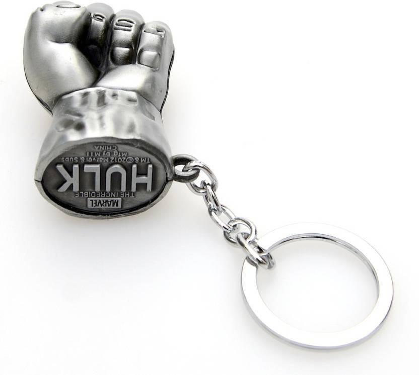 Jakha Hulk Silver Metallic Locking Key Chain Keyring for Men Women Boys  Girls Car  c63f76003
