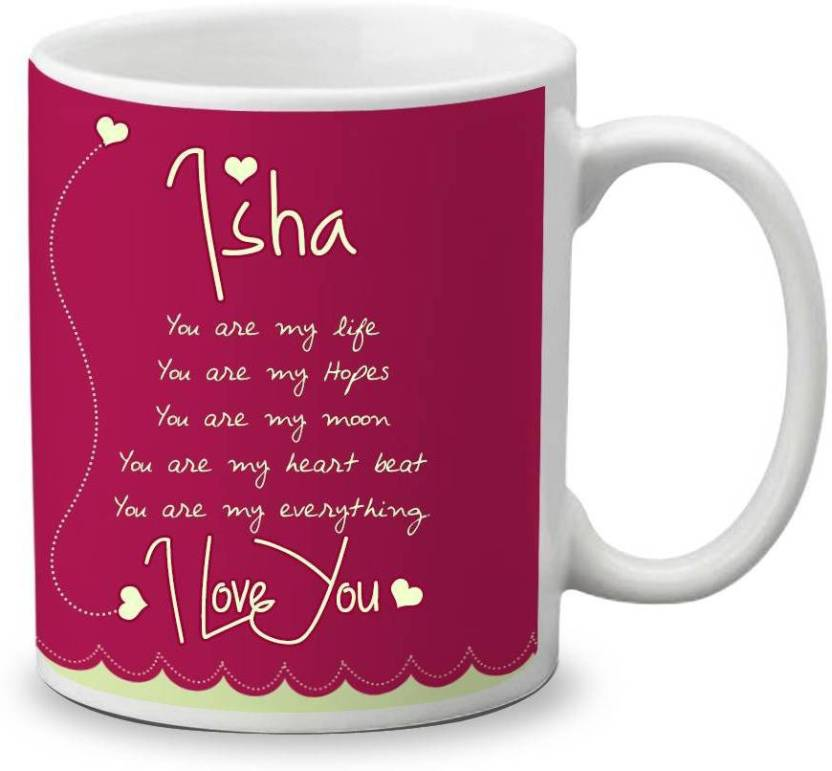 My Gifts Zone Isha Name Beautiful Ceramic Coffee Gifts for