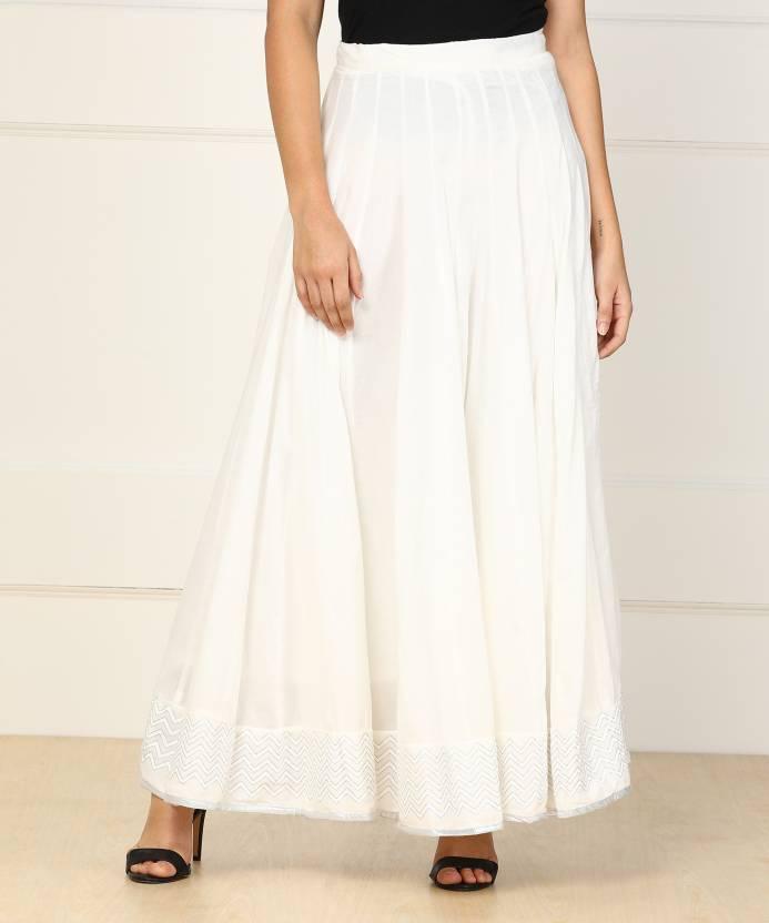 401e9e5598 Biba Solid Women's Gathered White Skirt - Buy OFF WHITE Biba Solid Women's  Gathered White Skirt Online at Best Prices in India   Flipkart.com