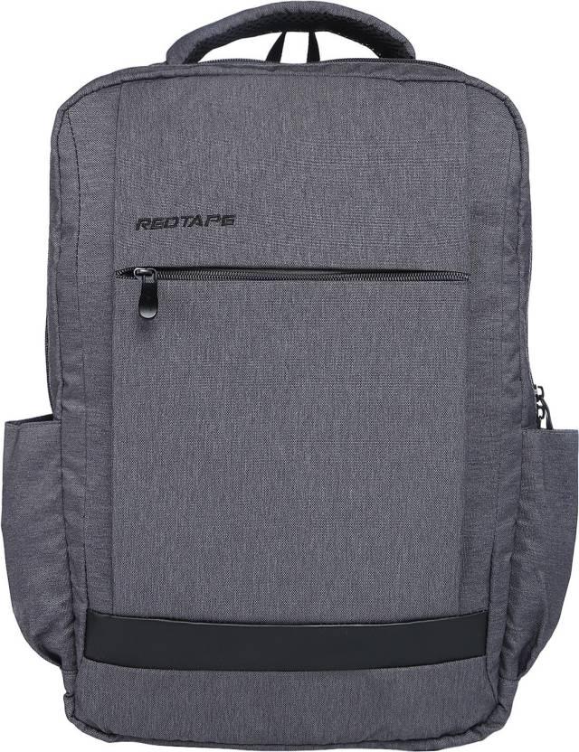Red Tape Men s Polyester Solid 12.255 L Backpack Grey Melange ... c64bf28b887ed