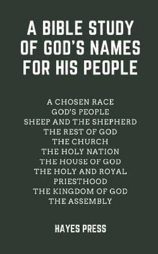 A Bible Study of God's Names for His People - Buy A Bible Study of