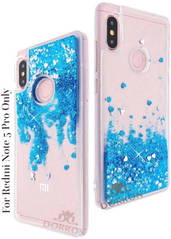 reputable site 0ff0d 8d07a DORRON Back Cover for Redmi Note 5 Pro Glitter Stylish Designer Transparent  Liquid Waterfall Soft Sides Case For Girls