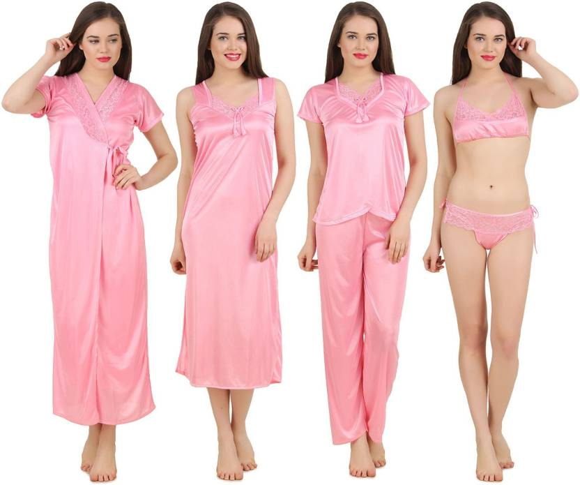 Fasense Women Nighty Set - Buy Baby Pink Fasense Women Nighty Set ... 7b838bd57