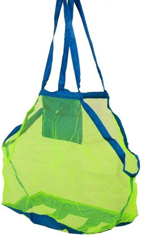 5dc0640c4 Honestystore Beach Mesh Tote Bag - Large Foldable Sand Away Children Beach  Toys Organizer Storage Bags