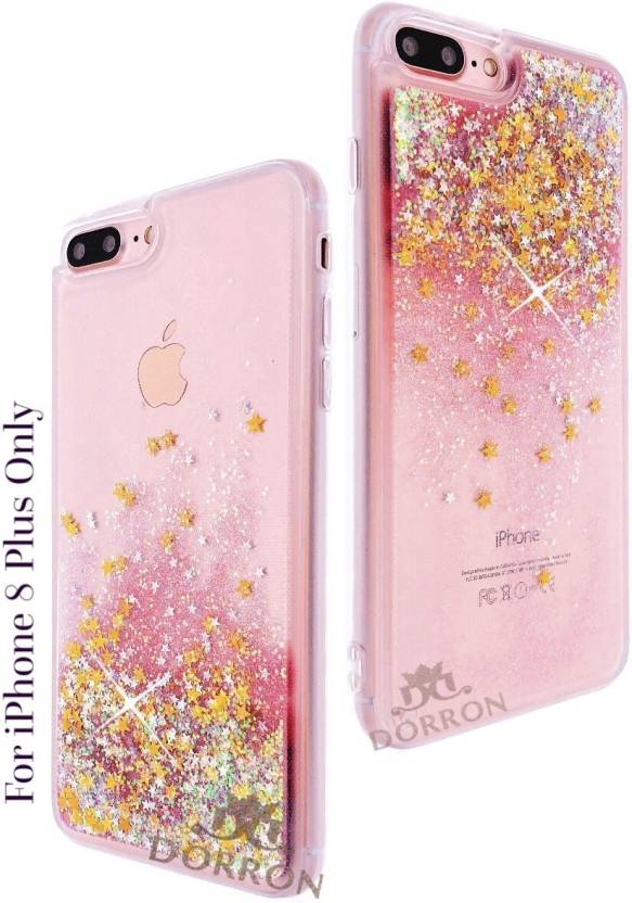 online store 87731 5e60e DORRON Back Cover for iPhone 8Plus Glitter Bling Stylish Transparent ...