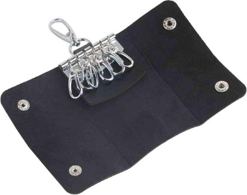 Productmine Keychain Pouch with 6 Clip Hook Key Holder Leather Key Holder -  Black Leather Key Holder (6 Hooks 94aafb9a4