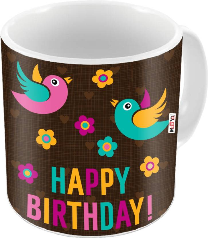 MEYOU Gift For Brother Sister Father Mother Friends On Birthday Gifts IZ18DTMU 378 Ceramic Mug 325 Ml