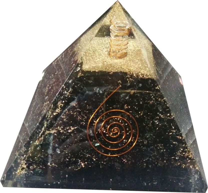 Crystal Healing And Vastu Correction Orgonite Pyramid Reiki Crystal Products Natural Tiger Eye Orgone Pyramid 40-45 mm approx for Reiki Healing