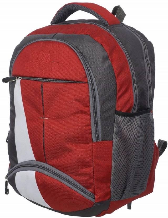 f2a98519b6cf Flipkart.com | blutech Canvas Red Waterproof School Bag & College ...