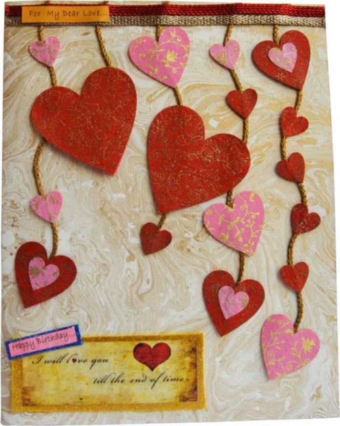 Natal Crafts Birthday Special Jumbo Handmade Love Card 02 Size A3