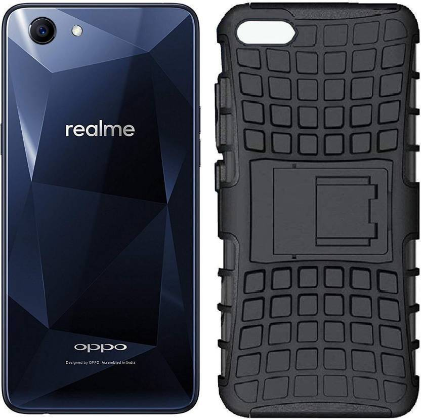 huge discount 97b02 84c1c TrendzOn Back Cover for OPPO REALME 1 Hybrid Kickstand Armor Back ...