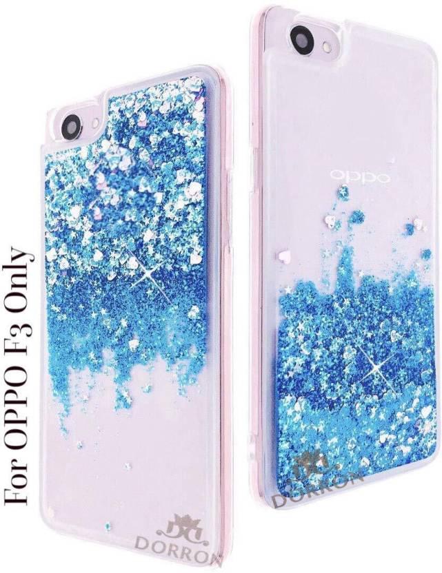 competitive price 766a8 d5dc1 DORRON Back Cover for OPPO F3 Glitter Stylish Designer Transparent ...