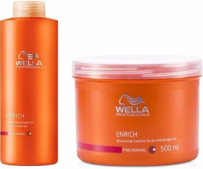 ea25ef36e82 Wella Professionals enrich moisturizing shampoo 1000ml and mask 500ml (Set  of 2)