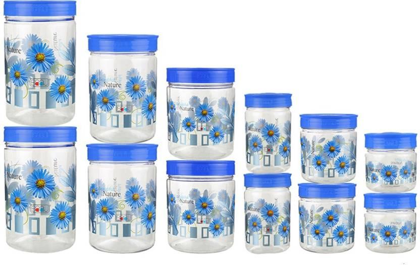 Container SAAJ Plastic Kitchen Storage Containers Set - 2000 ml, 1500 ml,  1000 ml, 800 ml, 500 ml, 250 ml Plastic Grocery Container, Fridge  Container, ...