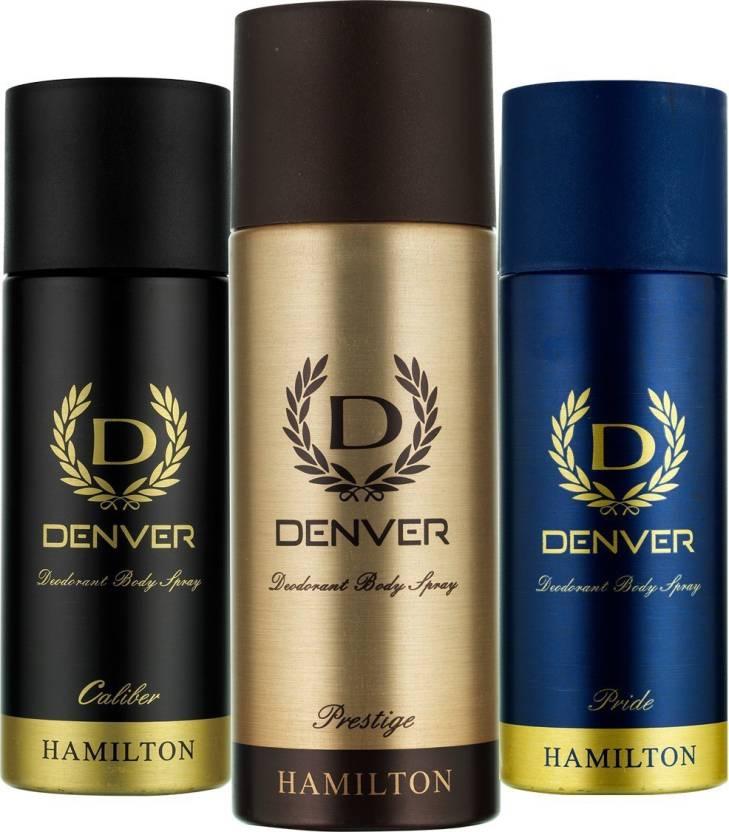 e90a5418a1ae Denver Prestige, Caliber and Pride Deo Combo (Pack of 3) Deodorant Spray -  For Men (495 ml, Pack of 3)