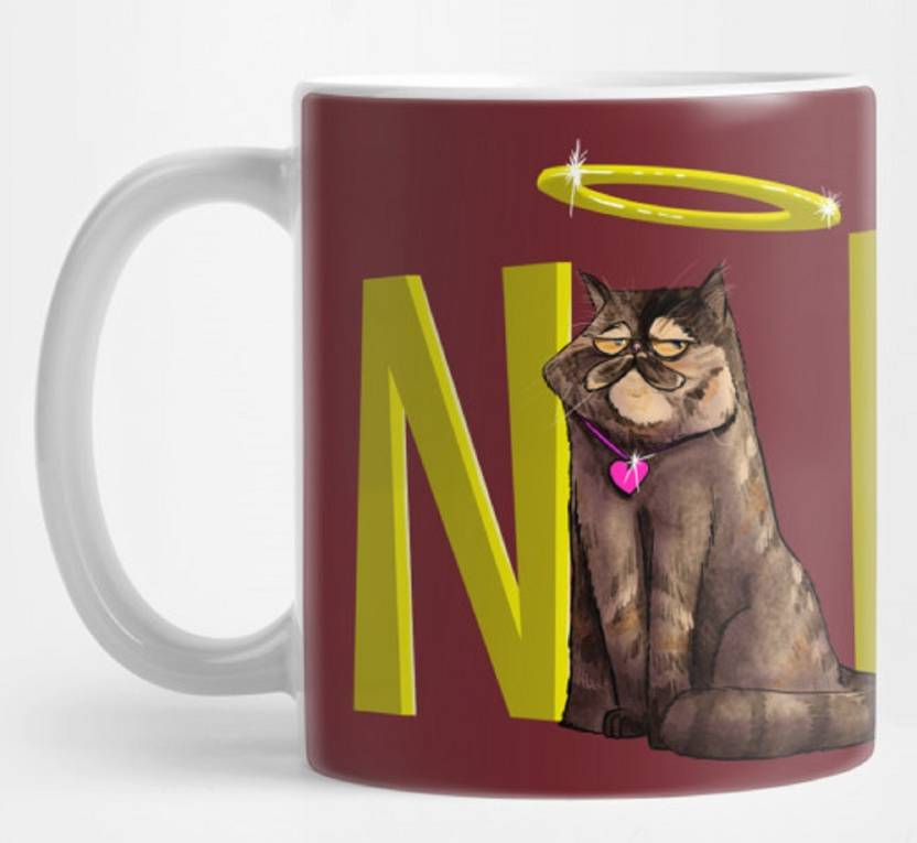 Oddclick Nope Informal Variant Of No With Cat Artistic Coffeemug To