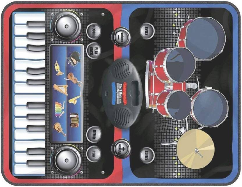 Shoppernation Fancy Kids Musical Playmat With Drums and Piano Sounds