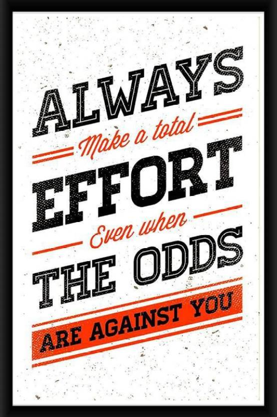 R PRINT Motivational Frame Posters For Room - Framed Quotes For ...