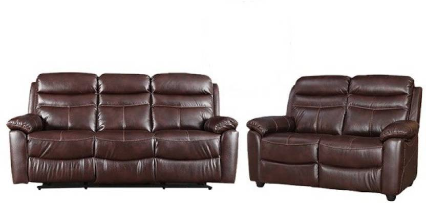 Hometown Logan Na Aire Recliner Three Seater Two In Umber Finish Leather 3 2 Sofa Set Price India