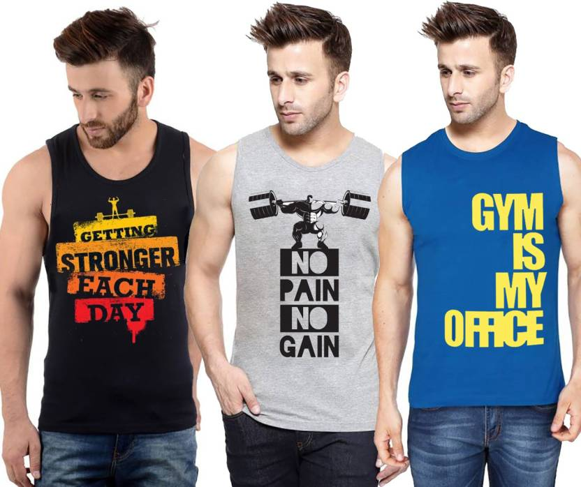 930a9990 Hotfits Graphic Print, Typography Men Round Neck Multicolor T-Shirt (Pack  of 3)