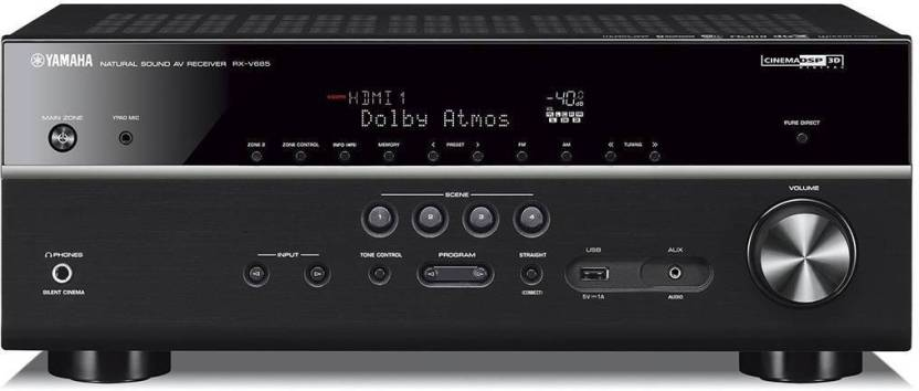 Yamaha Rx-v685 7 2-Ch Home Theater Receiver With Dolby Atmos®, Wi-fi