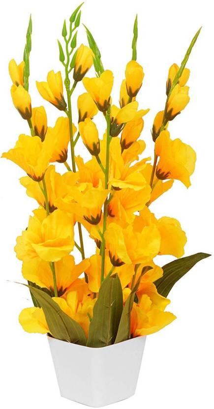 kaykon big artificial orchid flowers with pvc plastic pot superb