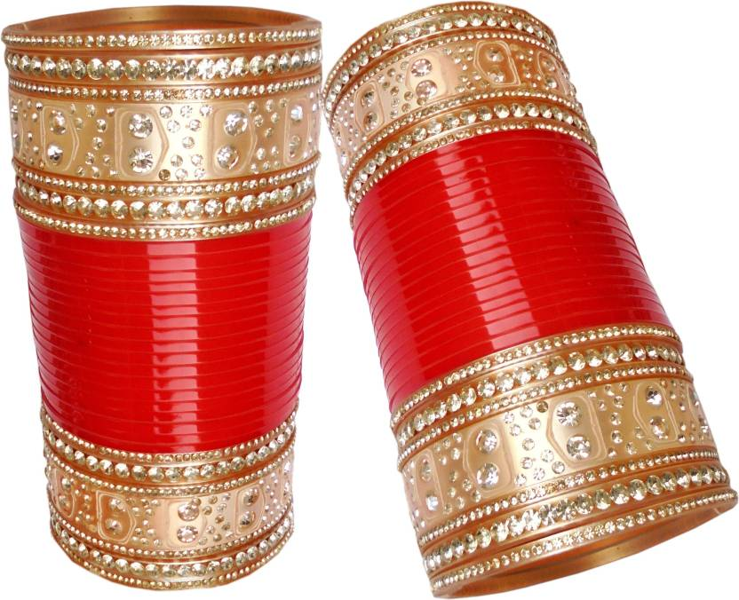 966df80660ee8 Vivah Bridal Chura Plastic Diamond Chudas Price in India - Buy Vivah ...