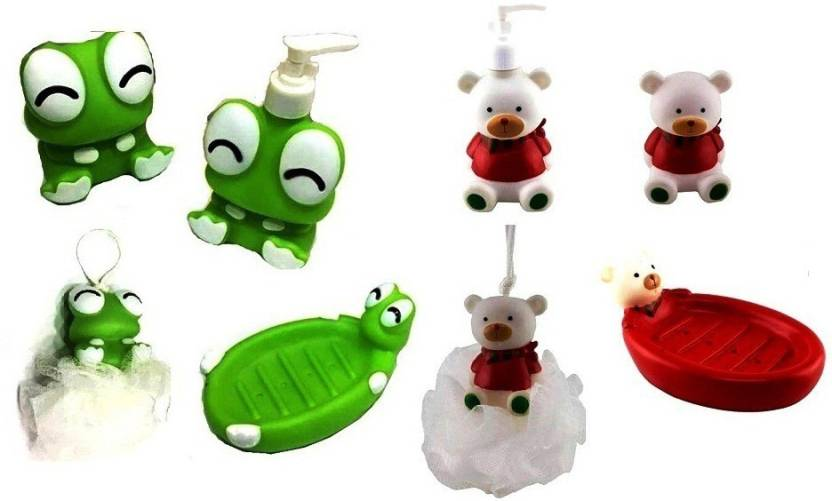 S2KCrafts S2KC-1539 kids bathroom set Bath Toy {Cutie Frog & Bear} Bath