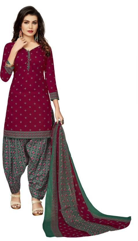347be36a5f FabTag - Fashion Ritmo Cotton Polyester Blend Printed Salwar Suit Material  (Un-stitched)