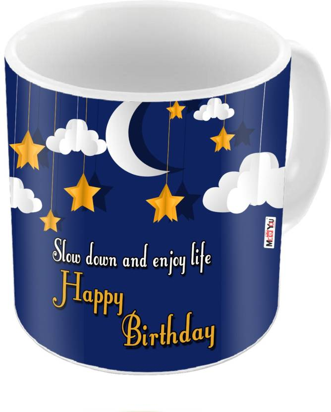 MEYOU Gift For Brother Sister Father Mother Friends On Birthday Gifts IZ18DTMU 400 Ceramic Mug 325 Ml