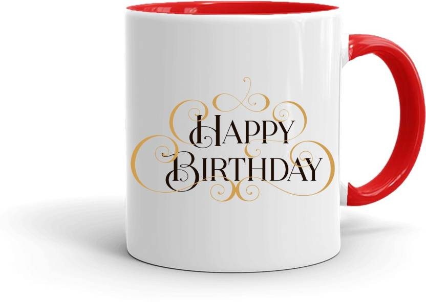 MUGKIN HB81 Birthday Special Printed Gift For Friend Cousin Sister Daughter Brother Son Etc Ceramic Mug 350 Ml