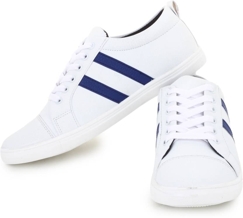 D-SNEAKERZ Casual , Partywear Sneakers Shoes For Men's And Boys White Color Party Wear For Men (White)