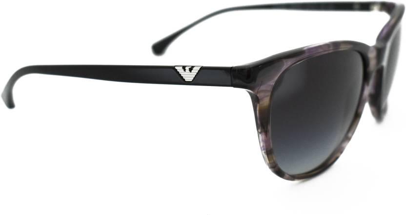 2bd9aaf88a4 Buy Emporio Armani Wayfarer Sunglasses Grey For Women Online   Best ...