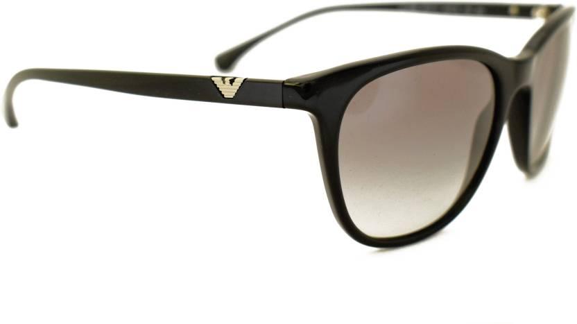 18a085cd0e96b Buy Emporio Armani Cat-eye Sunglasses Black For Women Online   Best ...