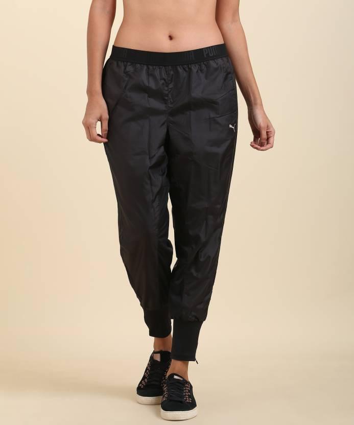 9e359da624c9 Puma Solid Women s Black Track Pants - Buy Black Puma Solid Women s Black  Track Pants Online at Best Prices in India