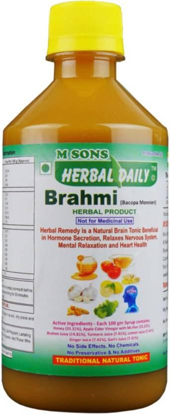 M SONS Herbal daily Brahmi Price in India - Buy M SONS